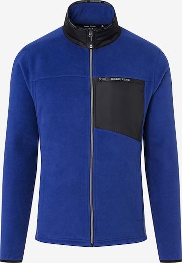 CODE-ZERO Fleece jas 'Wavesom' in de kleur Blauw / Zwart, Productweergave