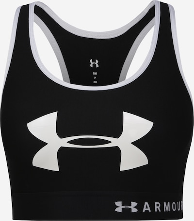 UNDER ARMOUR Sport bh 'Mid Keyhole Graphic' in de kleur Zwart / Wit, Productweergave