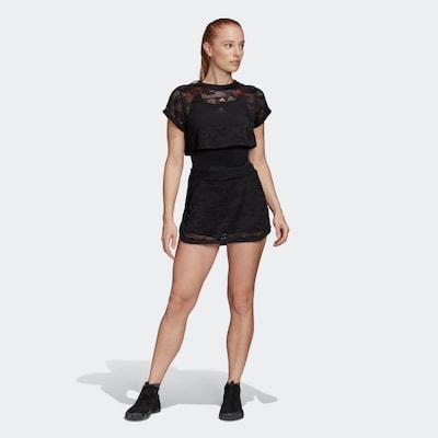 ADIDAS PERFORMANCE Kleid 'Primeblue' in orange / schwarz: Frontalansicht