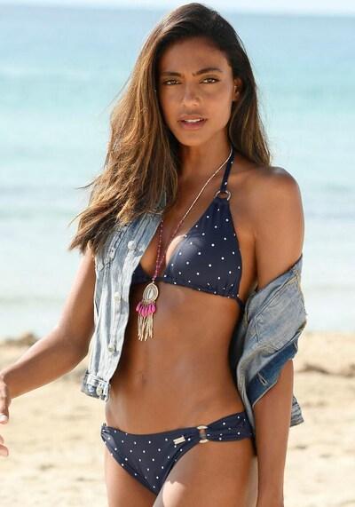 LASCANA Bikini-Hose 'Sparkel' in navy, Modelansicht