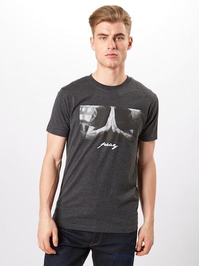 Mister Tee T-Shirt 'Pray' in graumeliert: Frontalansicht