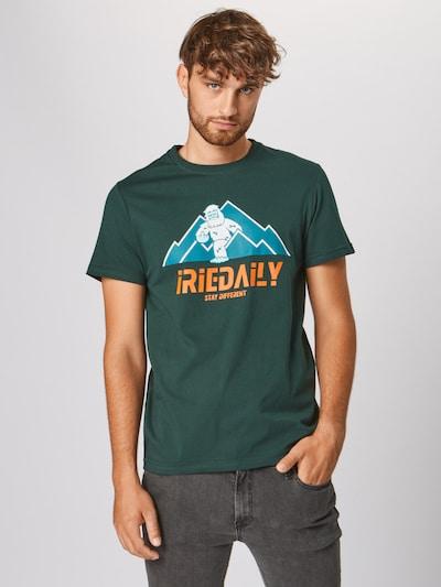Iriedaily Shirt 'Stay Yeti Tee' in de kleur Donkergroen: Vooraanzicht