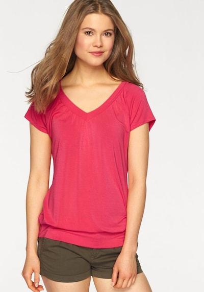 LASCANA T-Krekls pieejami dzērveņu, Modeļa skats