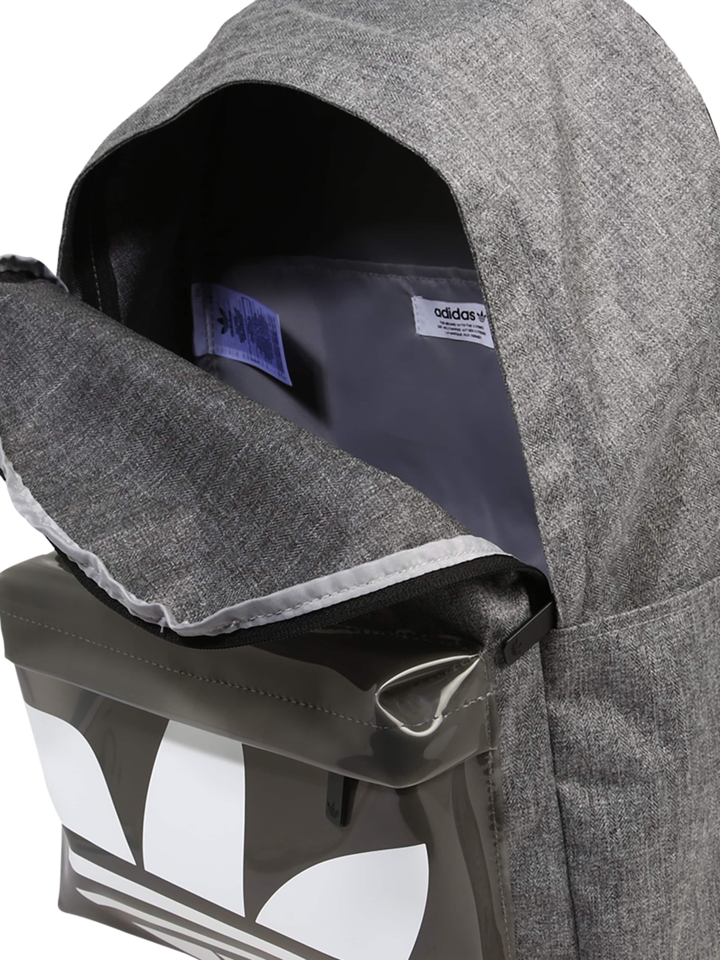 ADIDAS ORIGINALS Ryggsäck i gråmelerad / svart / vit