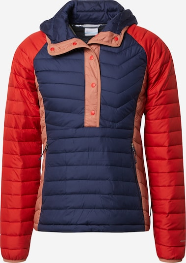 COLUMBIA Outdoor jakna 'Powder Lite Insulated An-Nocturnal' u mornarsko plava / roza / crvena, Pregled proizvoda
