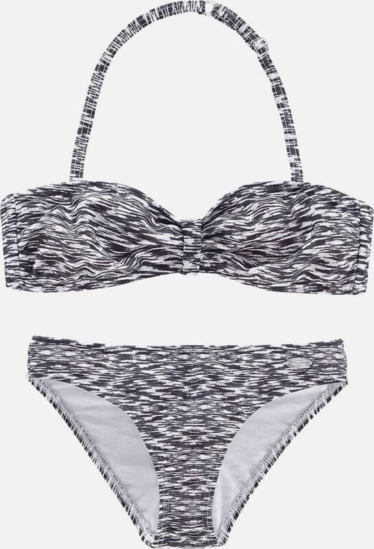 venice beach bandeau bikini in schwarz about you. Black Bedroom Furniture Sets. Home Design Ideas