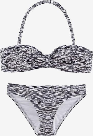 VENICE BEACH Bandeau-Bikini in schwarz / weiß, Produktansicht