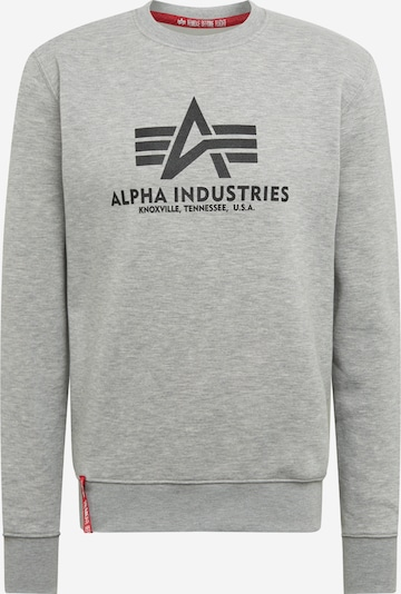 ALPHA INDUSTRIES Sweatshirt in hellgrau, Produktansicht