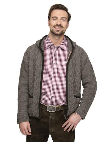 STOCKERPOINT Knitted Janker 'Tilo' in Grey