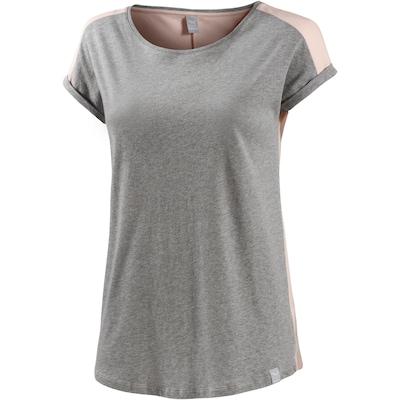 Iriedaily T-Shirt in grau / rosa: Frontalansicht