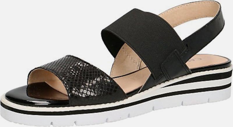 CAPRICE Sandalen Leder, Textil Bequem, gut aussehend