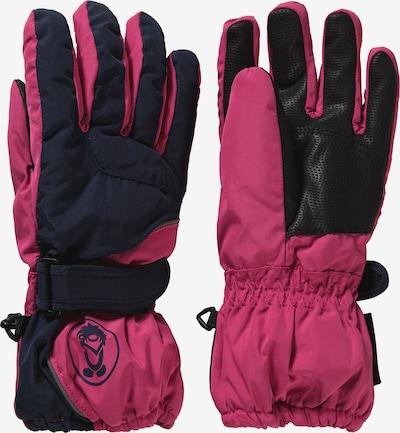 TROLLKIDS Skihandschuhe in navy / pink, Produktansicht