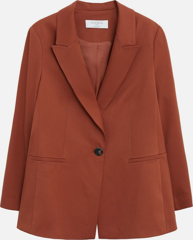 VIOLETA by Mango Blazer 'Ozdu' in rostbraun / orange, Produktansicht
