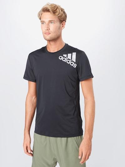 ADIDAS PERFORMANCE T-Shirt in grau / schwarz: Frontalansicht