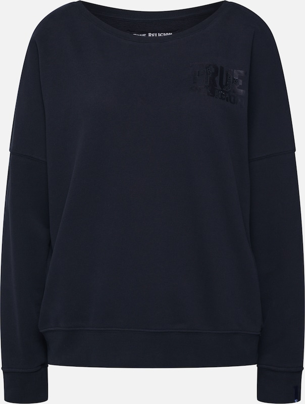 True Religion Sweatshirt 'CREW SWEAT TRUE' in schwarz, Produktansicht