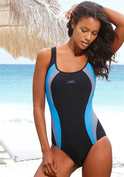 VENICE BEACH Badeanzug in blau / schwarz, Modelansicht