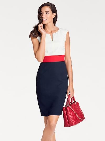 heine Robe fourreau en marine / rouge / blanc cassé, Vue avec modèle