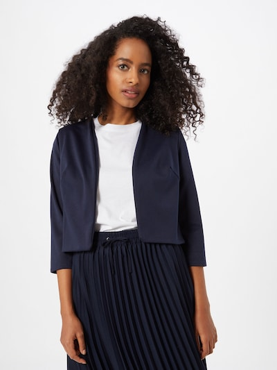 Boohoo Blazer 'Crop Ponte Edge To Edge' in navy, Modelansicht