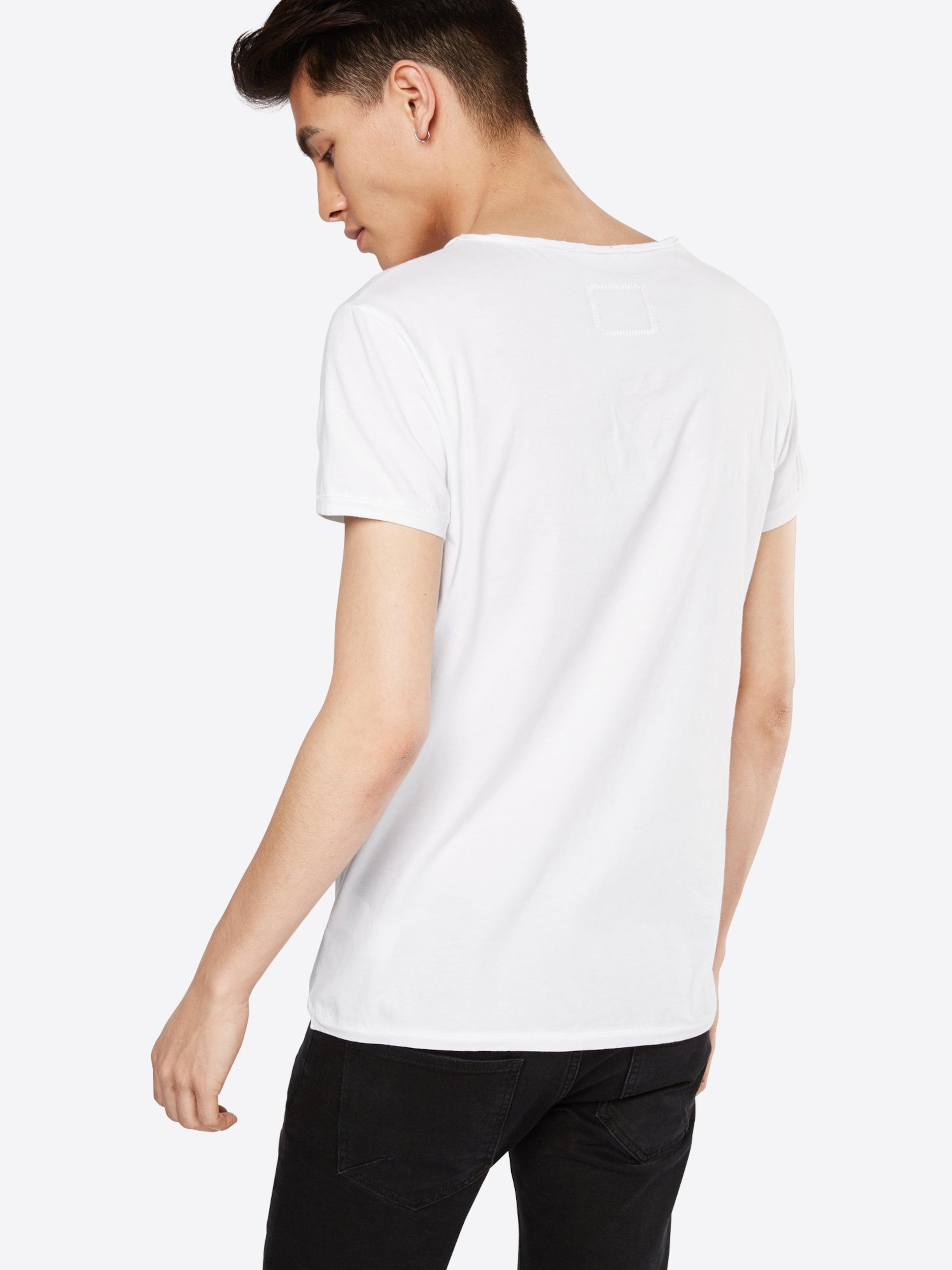 ausschnitt Mit 'malik' Shirt Weiß In Tigha V 80mNnvw