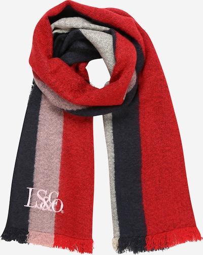 LEVI'S Schal in dunkelblau / hellpink / rot, Produktansicht