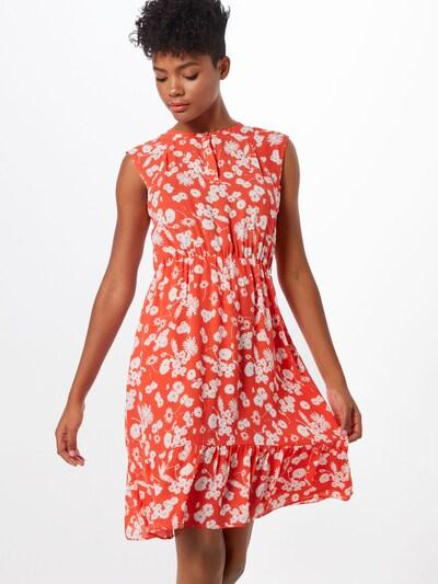 OPUS Kleid 'Wolise' in orangerot / weiß, Modelansicht
