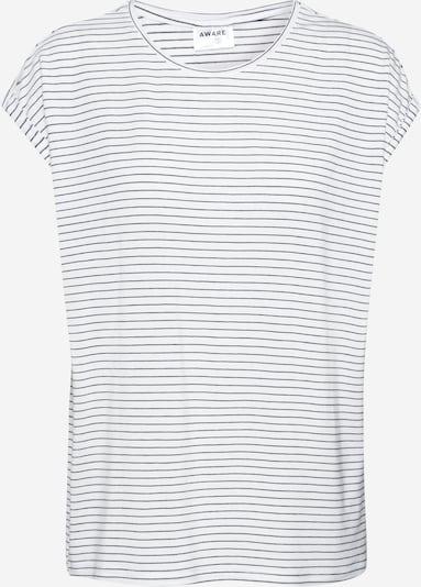 VERO MODA T-shirt 'AVA PLAIN' en noir / blanc, Vue avec produit