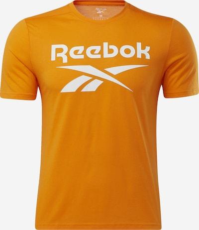 REEBOK Functioneel shirt in de kleur Sinaasappel / Wit, Productweergave