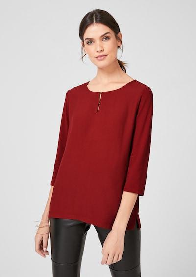 s.Oliver BLACK LABEL Blusenshirt in rot, Modelansicht