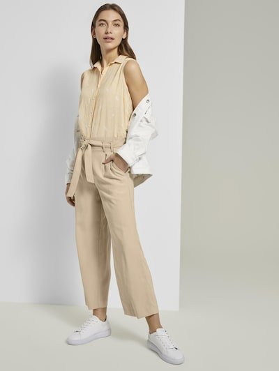 TOM TAILOR Chinohose 'Culotte' in beige, Modelansicht