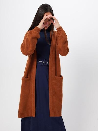 SAINT TROPEZ Cardigan en marron, Vue avec modèle