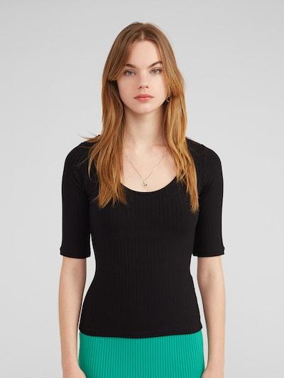 EDITED Shirt 'Fray' in schwarz, Modelansicht