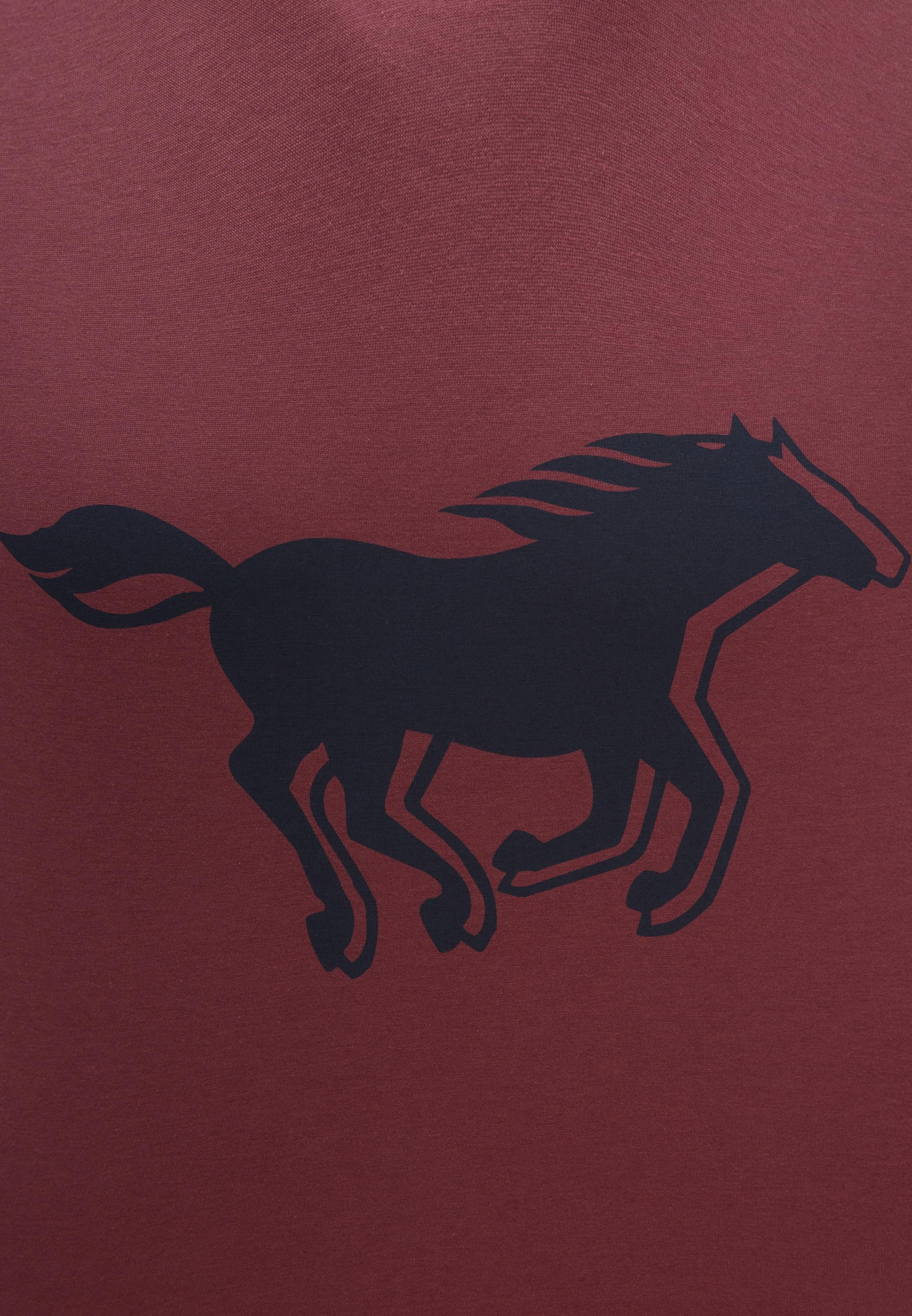 shirt T Mustang In 'horse Tee' DunkelblauFeuerrot VpqSzMUG