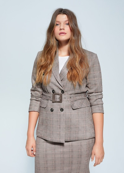 VIOLETA by Mango Blazer 'Joe' in grau, Modelansicht