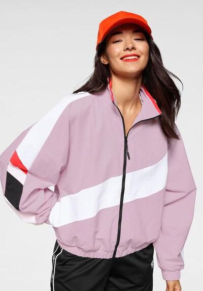 REEBOK Sportjas in de kleur Rosa / Rood / Zwart / Wit: Vooraanzicht