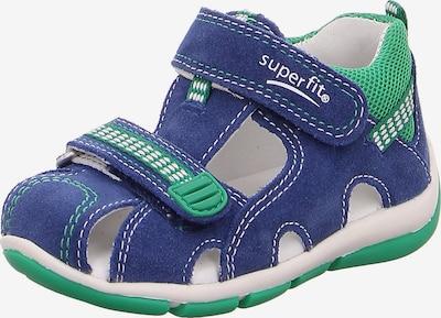 SUPERFIT Sandalen 'Freddy' in dunkelblau / grün, Produktansicht