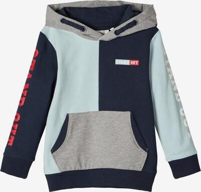 NAME IT Sweatshirt in nachtblau / azur / grau, Produktansicht