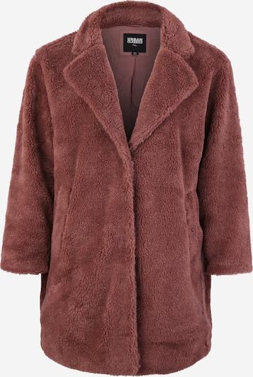 Urban Classics Curvy Wintermantel 'Sherpa Coat' in de kleur Rosé, Productweergave