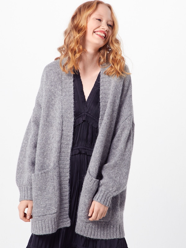 SELECTED FEMME Cardigan oversize en gris chiné: Vue de face