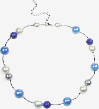 Orquidea Perlenkette 'Majorca' in blau / silber / weiß, Produktansicht