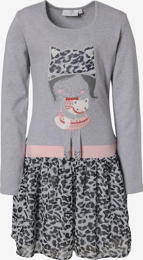 happy girls Jerseykleid in grau / rosa: Frontalansicht