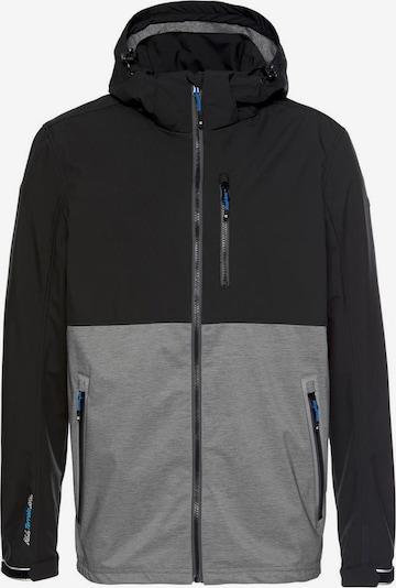 KILLTEC Softshelljacke in grau / schwarz, Produktansicht