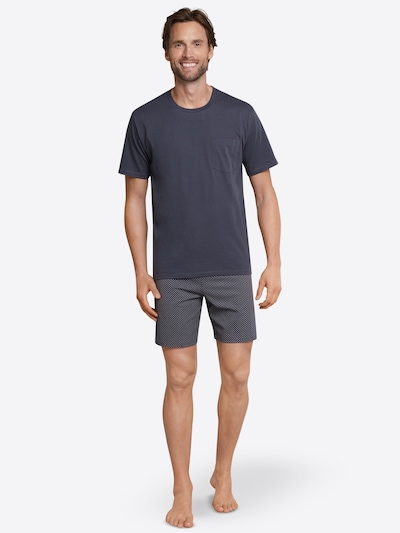 SCHIESSER Kratka pižama | antracit barva, Prikaz modela