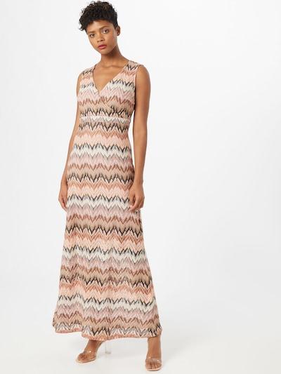 MORE & MORE Kleid 'Zick Zack' in beige / braun, Modelansicht