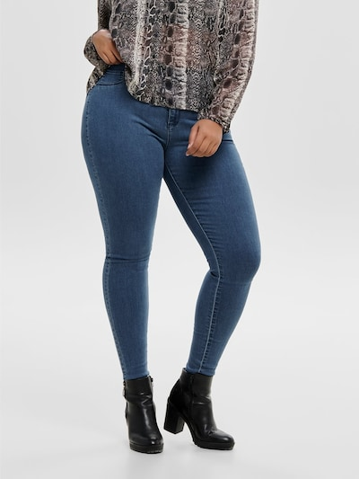 ONLY Carmakoma Jeans 'Carstorm push up hw sk mbd noos' in blue denim, Modelansicht