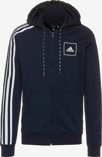 ADIDAS PERFORMANCE Sweatjacke 'Tape' in navy / weiß, Produktansicht