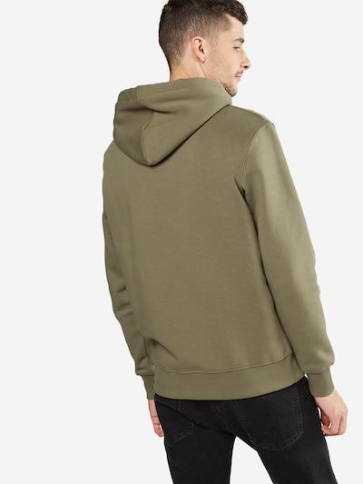 ALPHA INDUSTRIES Sweatshirt in de kleur Olijfgroen / Zwart: Achteraanzicht