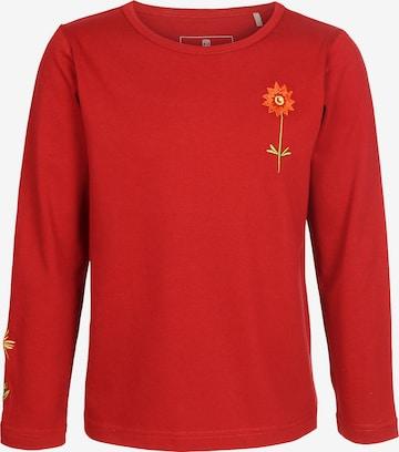 ELKLINE Langarmshirt 'Kleine Blume' in Rot