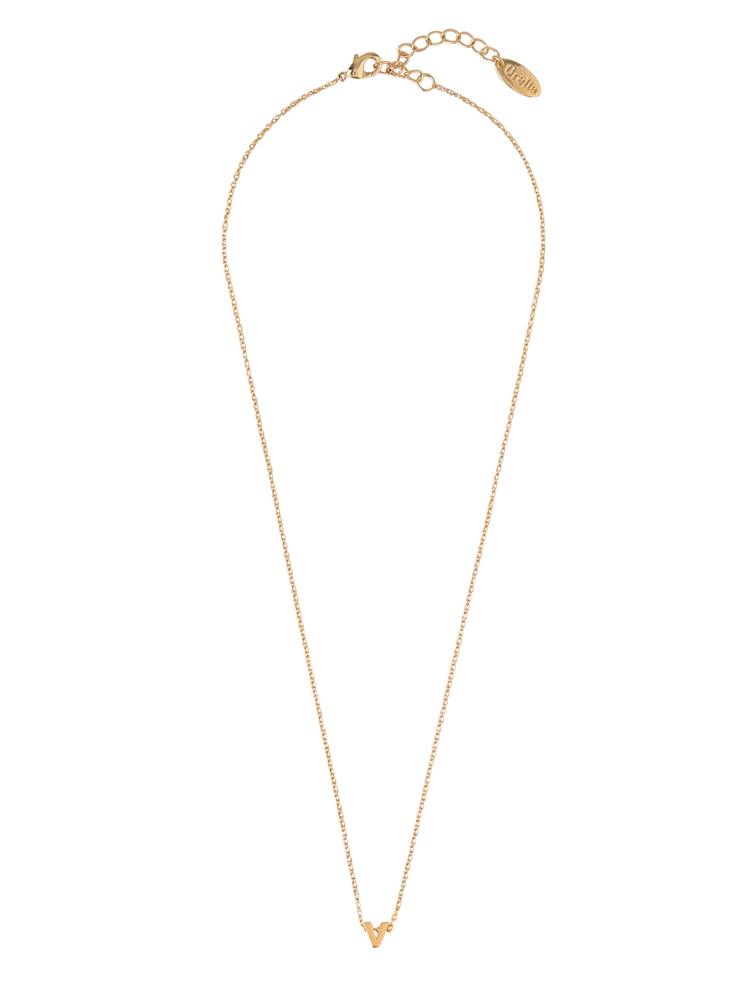 Nl' Orelia In Gold 'gp Initial Mint Kette knwX8O0P