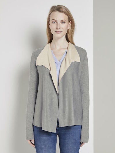 TOM TAILOR Cardigan in grau, Modelansicht