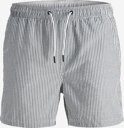 JACK & JONES Shorts de bain en bleu nuit / blanc, Vue avec produit